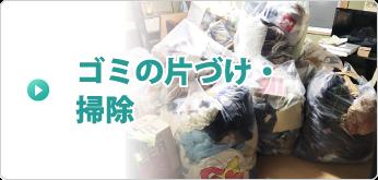 ゴミの片づけ・掃除